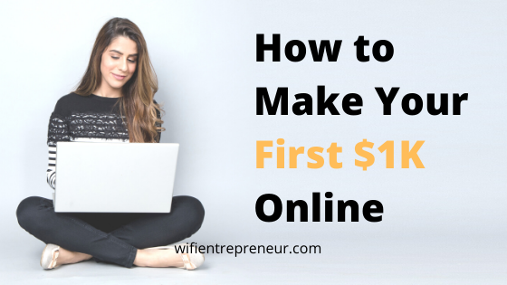 make your first $1k online